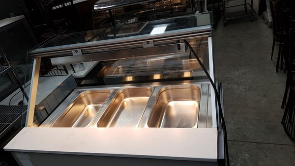 Infrico Dry Heated Bain Marie Display with Heated Lights for sale