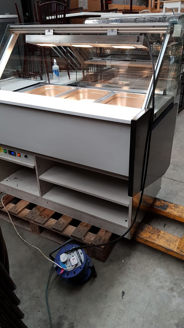 Selling Infrico Dry Heated Bain Marie Display with Heated Lights
