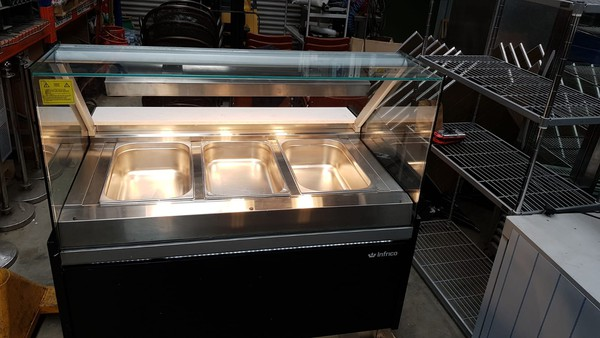 Used Infrico Dry Heated Bain Marie Display with Heated Lights