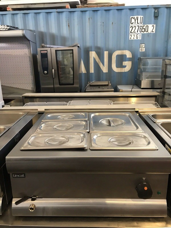 Used Lincat Wet Bain Marie With Pans and Lids