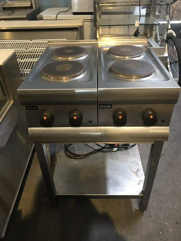 Lincat HT3 Electric 4 Hob Boiling Hot Plate Cooker with Stand