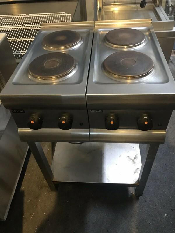 Used Lincat HT3 Electric 4 Hob Boiling Hot Plate Cooker with Stand