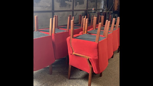 upholstered red chairs for sale