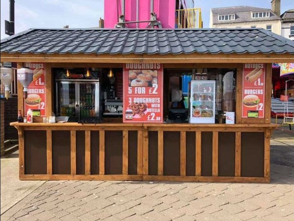Food stall hut for sale