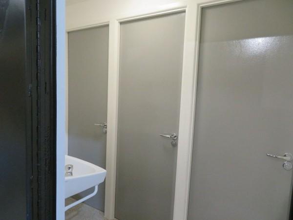 Glamp side toilet unit