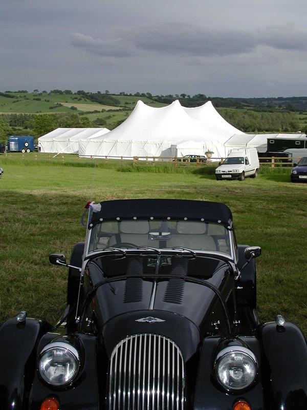 Traditional pole marquee wedding venue