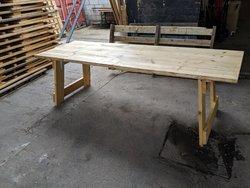 Rustic vintage trestle table for sale