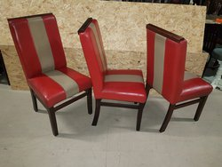 Red Leather Dining Chairs For Sale Derby
