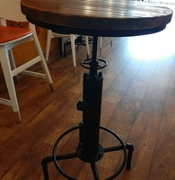 Industrial style Poseur tables