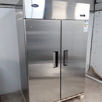 New B Grade Atosa MBF8117GR Stainless Double Upright Fridge(A9998)