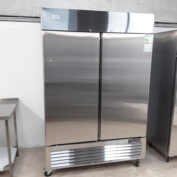 New B Grade Ice A Cool ICE8960 Stainless Double Upright Fridge (A10001)