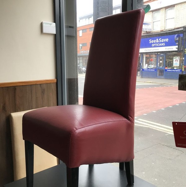 Burgundy Faux Leather Dining chairs