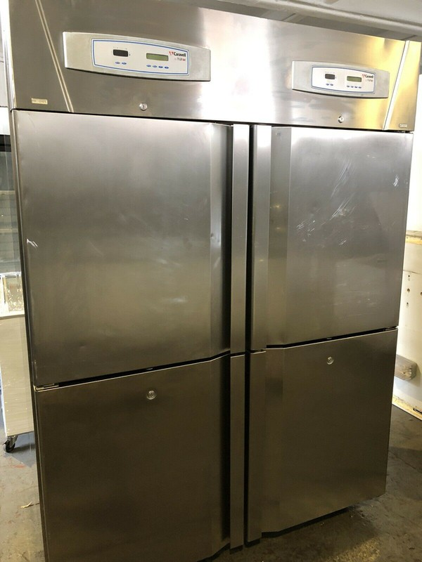 Caravel Upright Double Stable Door Storage Freezer with Separate Meat Section