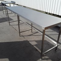 2.55m Stainless steel table for sale