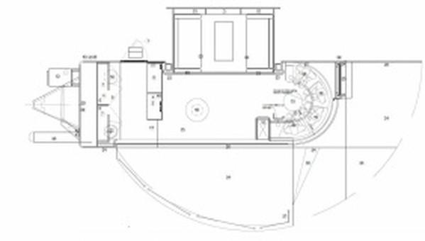 Interior layout of exhibition trailer