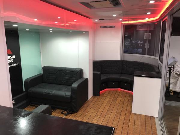 7m Event Hospitality Trailer interior
