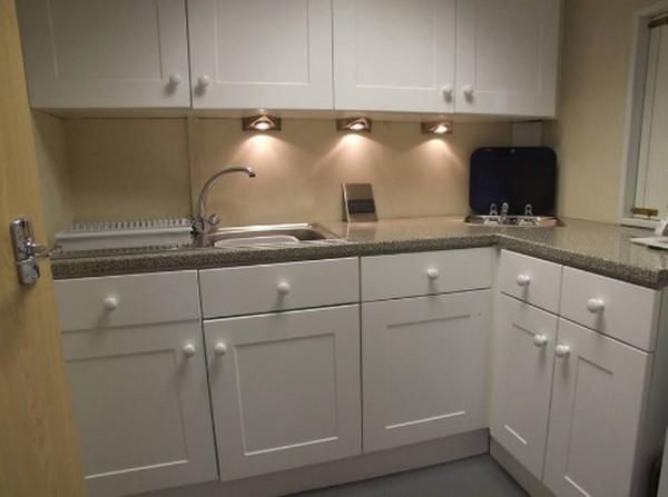 Kitchen inside Exhibition Trailer