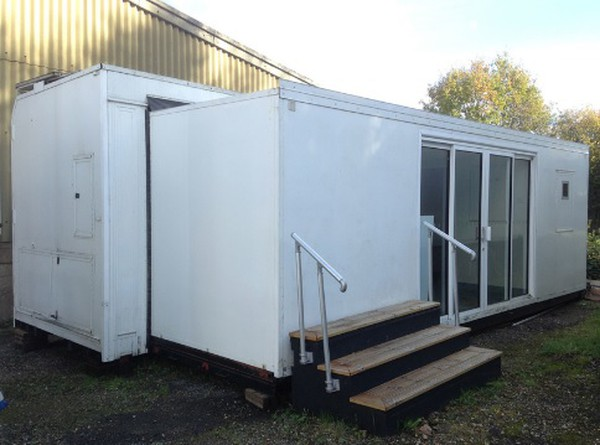 Extending Container Type Hospitality Units