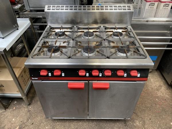 Bartlett Natural Gas 6 Burner Oven Range