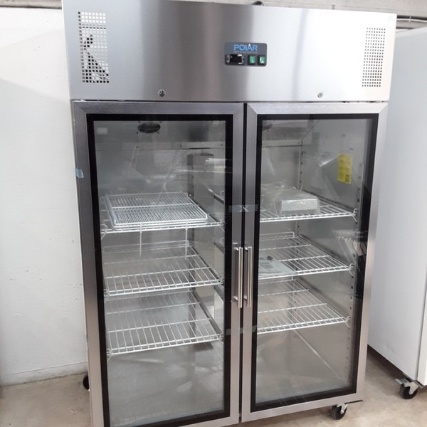 New B Grade Polar CW198 Stainless Double Upright Fridge (U10012) - Bridgwater, Somerset