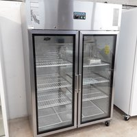 New B Grade Polar CW198 Stainless Double Upright Fridge	(U10014)