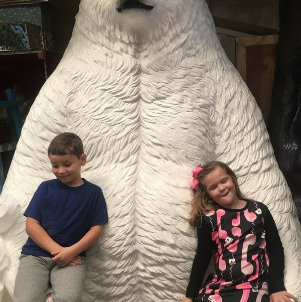 Giant 7ft Polar Bear Seat Prop