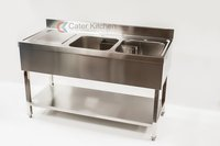 B Grade Double Bowl Commercial Catering Stainless Steel Sink - Free Next Day Delivery