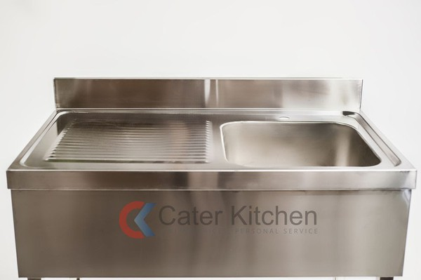 B Grade Stainless Steel Single Bowl Catering Sink - Free Next Day Delivery