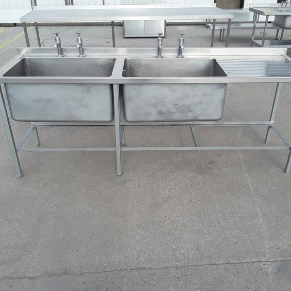 Used Stainless Steel Double Sink