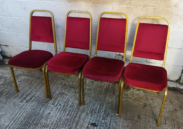 Red Cushioned Banqueting Chairs