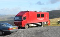 Red Mercedes Mobile Kitchen Lorry -  Very Reliable - Sennybridge, Wales