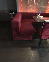 21 metres red upholstered restaurant seating