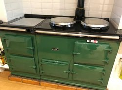 AGA Cooker 4 Oven, Bottle Green, Gas Conventional Flu Maxitrol Valve M3 - Newhaven, Sussex