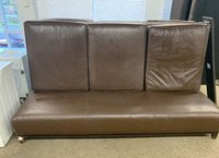 Brown Leather High Back Sofas