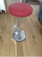 Stunning Metal Ball And Claw Bar Stools