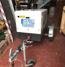 Stephill Generator With Road Trailer 10kva