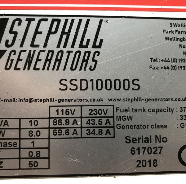 Buy Stephill Generator With Road Trailer 10kva