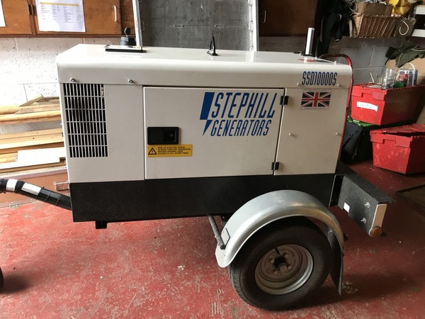 Used Stephill Generator With Road Trailer 10kva