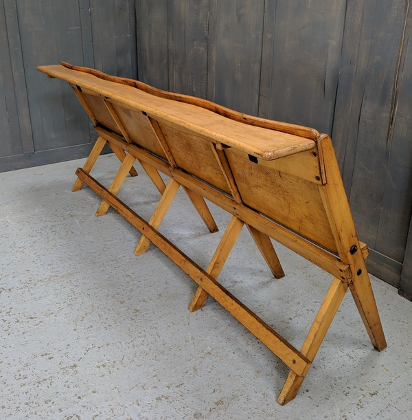 Vintage Four Seater Folding Benches