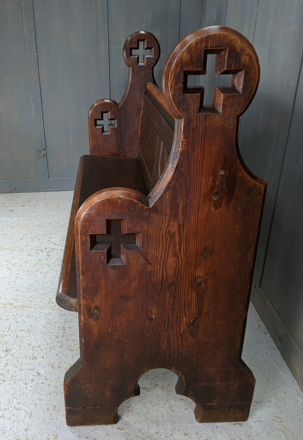 Antique Cross Ended Pitch Pine Pews