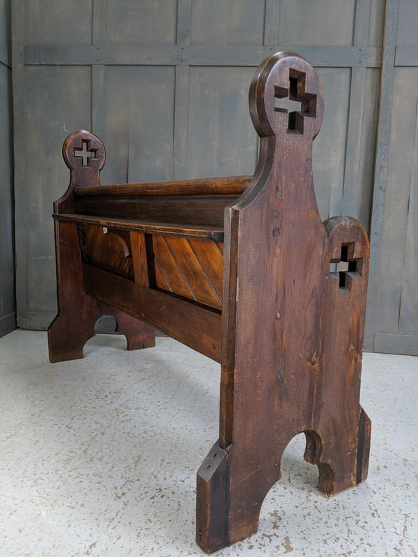 Big Cross Ended Antique Pitch Pine Pews