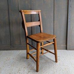 Heavy Elm & Beech Circa 1920 Classic Church Chapel Chairs