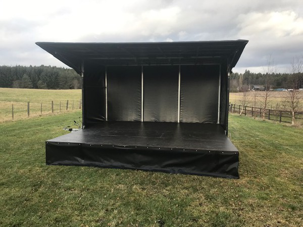 Mobile trailer stage or sale