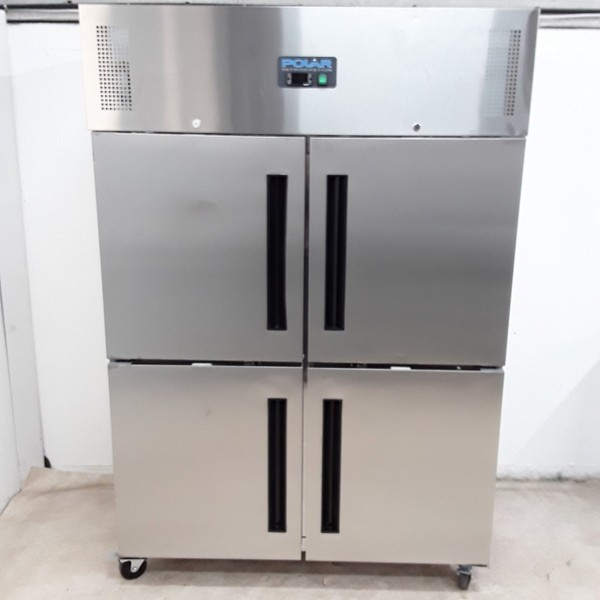 Polar CW196 Stainless Double Upright Freezer