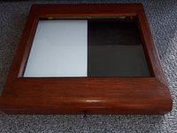 Wooden Illuminated Menu Case For Sale