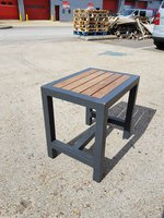 Outdoor Dining Bench Seats 450mm High
