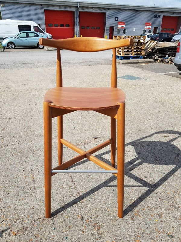 Danish Cow Horn Bar Stools For Sale