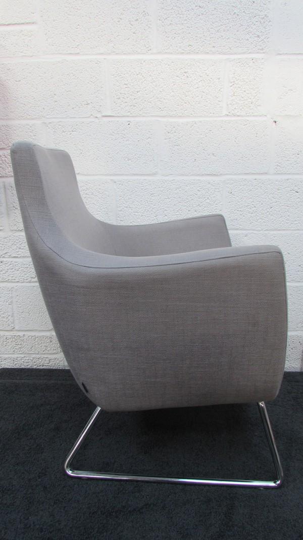 Grey Fabric Tub Chairs