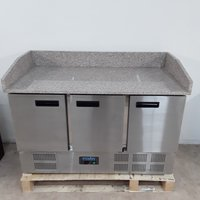 New B Grade Polar CN402 3 Door Marble Bench Fridge