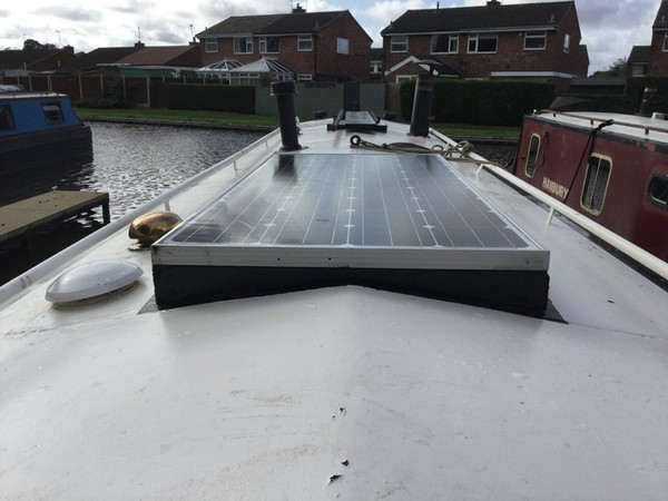 Solar Panels On Narrowboat Roof